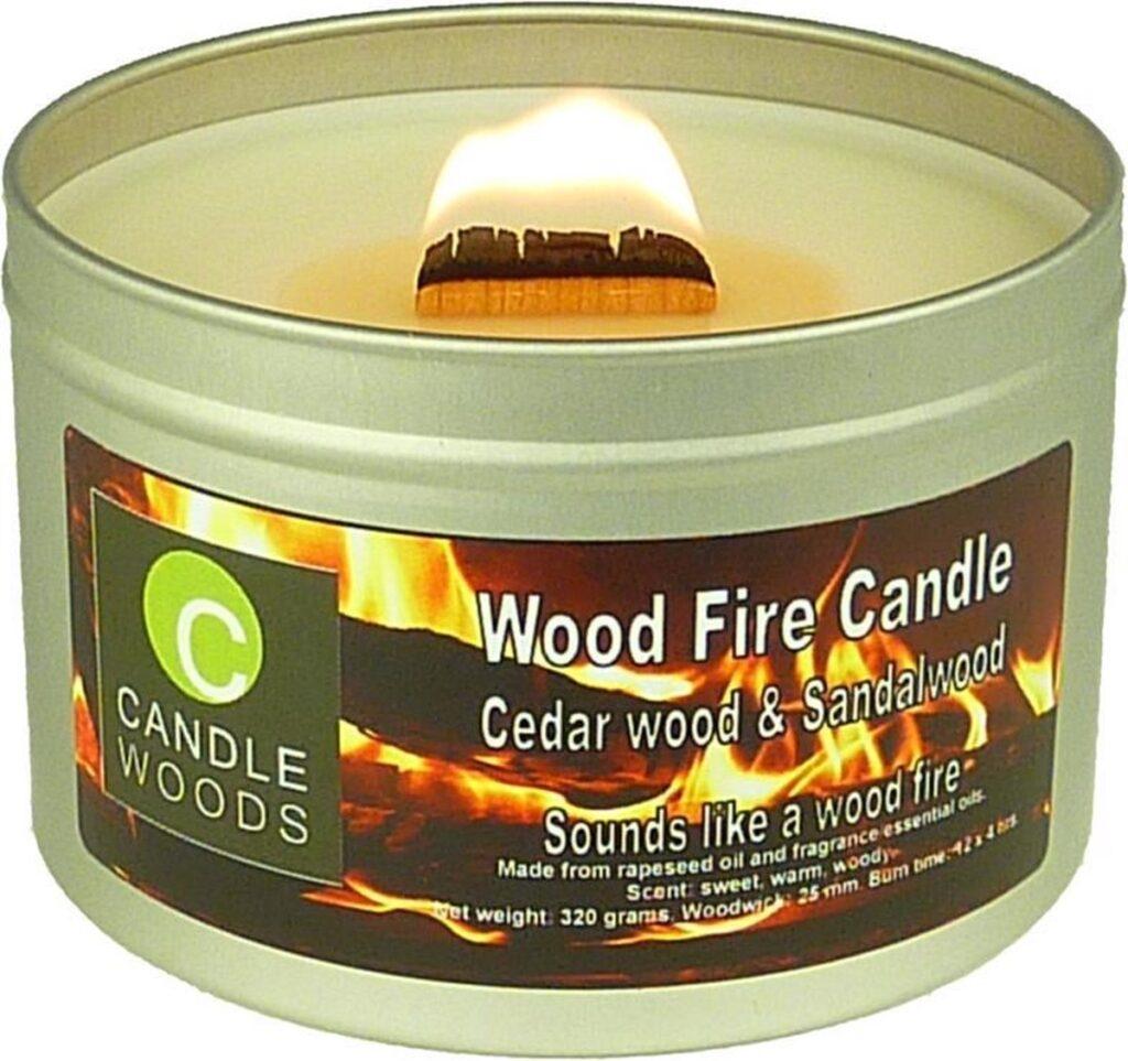 Candle Woods grote houtvuur geurkaars