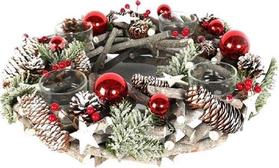 Decostar houten kerstkrans – 40 cm